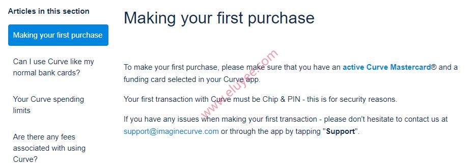 Curve卡首次交易必须是芯片+Pin码