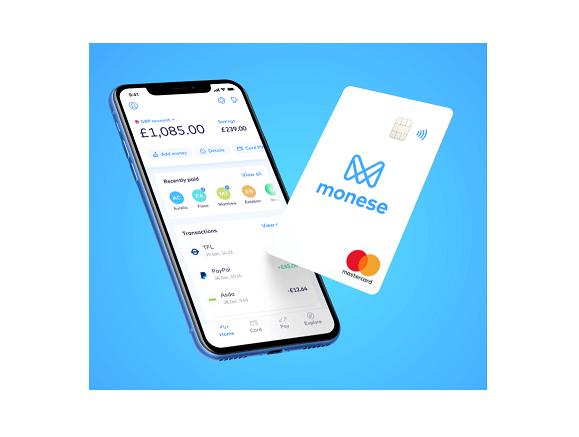 Monese银行账户与万事达借记卡