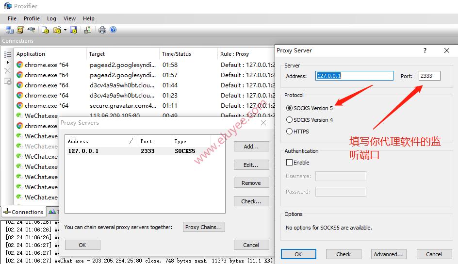 Proxifier设置代理服务器
