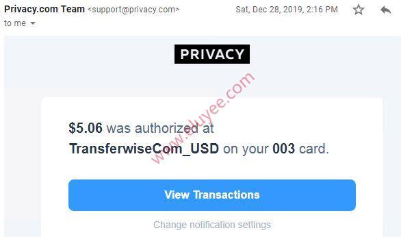 Transferwise authorrized