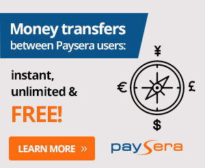 Transfer via Paysera