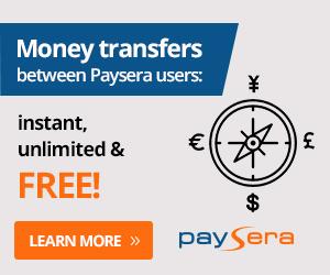 Transfer via Paysera