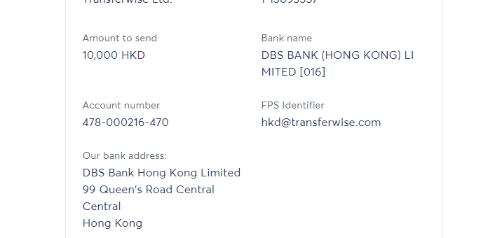 通过Transferwise给Velo入金