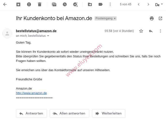 不再限制我的德国亚马逊账号