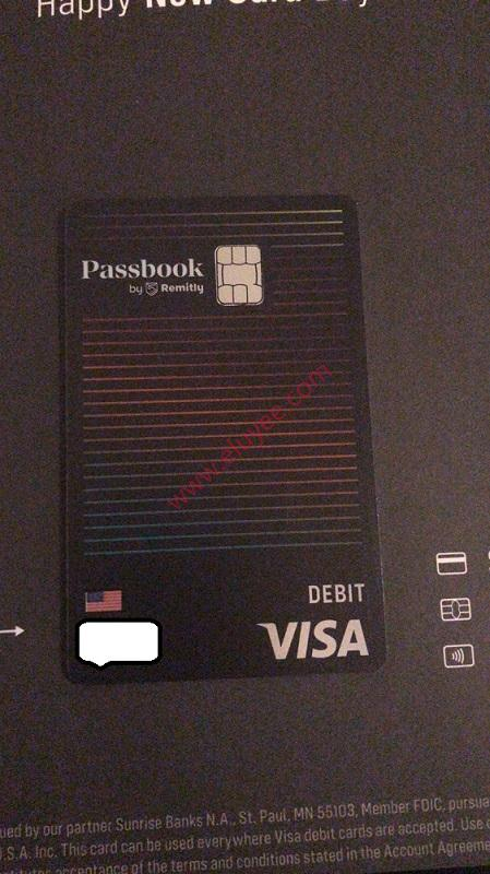 Passbook by Remitly卡正面