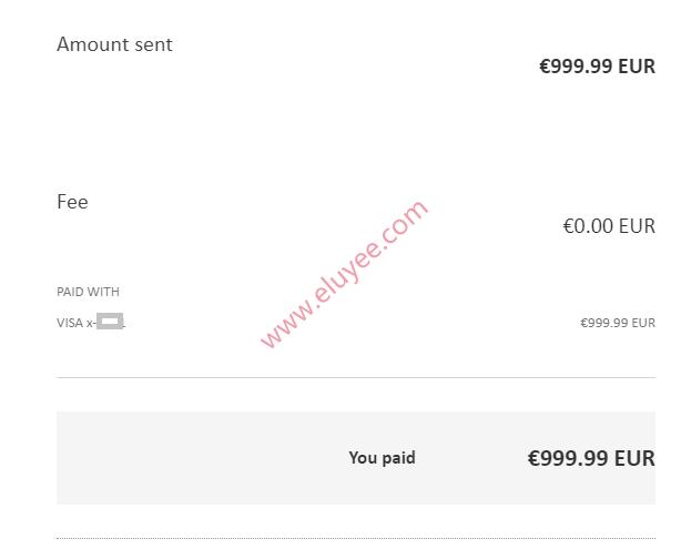 使用国内信用卡付款给德国Paypal