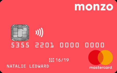 Monzo card,Monzo卡