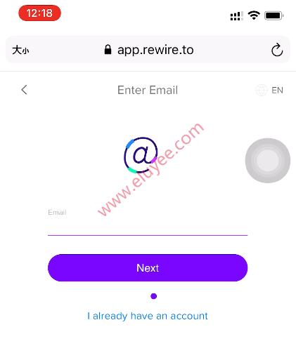 Rewire注册-输入电子邮箱