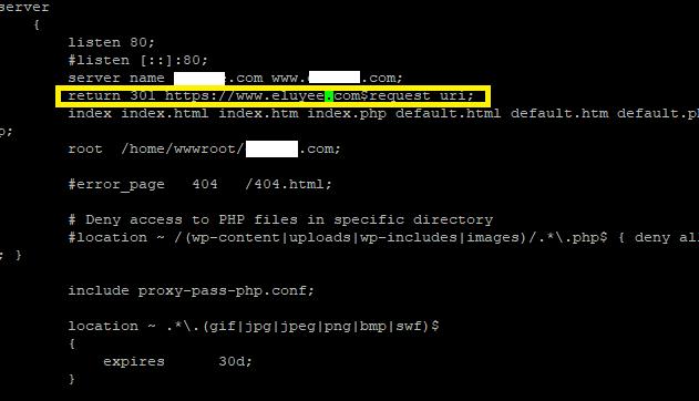 LNMPA强制重定向到HTTPS,Nginx设置