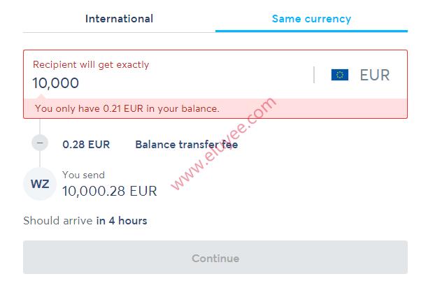 Wise国际汇款欧元到中国